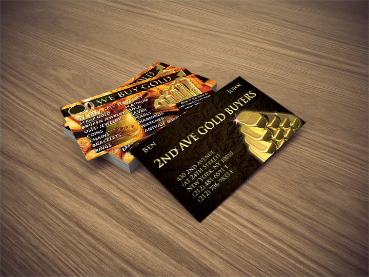 2nd Avenue Gold Buyers Business Card | | Bracha Designs