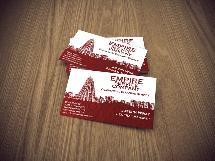 Empire service cleaning business card bracha designs empire service cleaning business card colourmoves Gallery