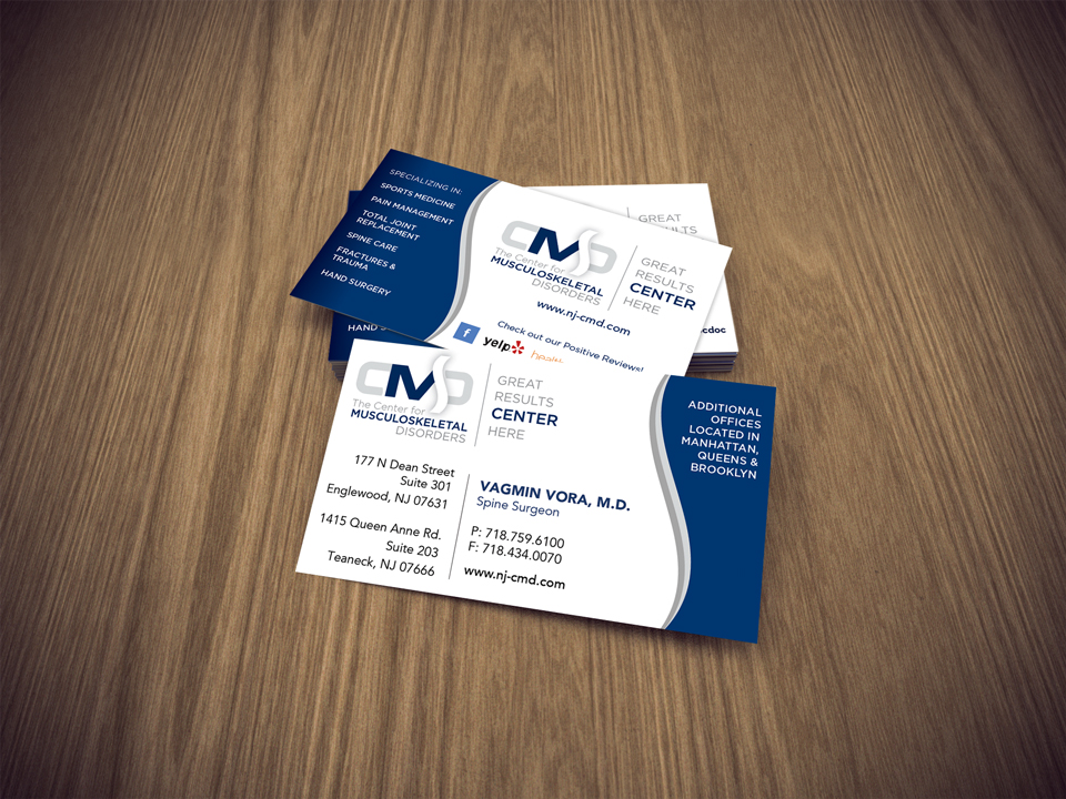 Orthopedic Business Card Design | Bracha Designs