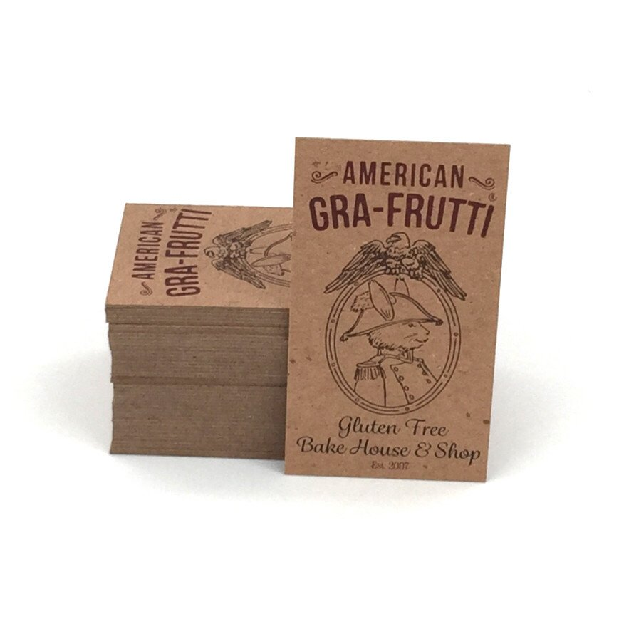 Be Environmentally Friendly with 100% Recycled Brown Kraft Cards ...